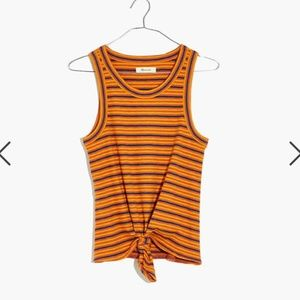 Madewell Audio Tie-front Timeoff Tank Top Dahlia M